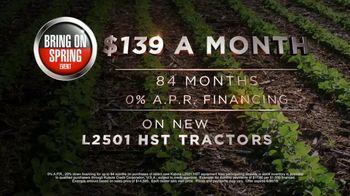 Kubota Bring on Spring Event TV Spot, 'L2501 HST Tractors' - Thumbnail 7