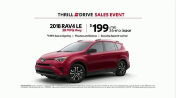 Toyota Thrill to Drive Sales Event TV Spot, 'Going Surfing: 2018 RAV4 LE' - Thumbnail 9