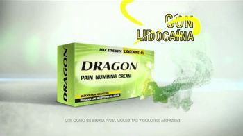 Dragon Pain Numbing Cream TV Spot, 'Dolores y torceduras' [Spanish]