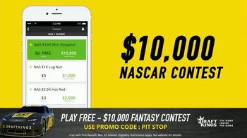 DraftKings $10,000 Fantasy NASCAR Contest TV Spot, 'Checkered Flag' - Thumbnail 6