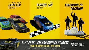 DraftKings $10,000 Fantasy NASCAR Contest TV Spot, 'Checkered Flag' - Thumbnail 8