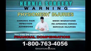 Knightline Legal TV Spot, 'Hernia Surgery' - Thumbnail 6