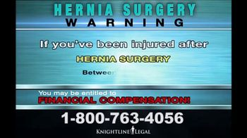 Knightline Legal TV Spot, 'Hernia Surgery' - Thumbnail 7