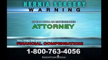 Knightline Legal TV Spot, 'Hernia Surgery' - Thumbnail 8