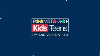 Rooms to Go Kids Anniversary Sale TV Spot, 'Bedroom Sets' - Thumbnail 1
