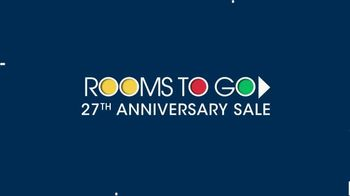Rooms to Go 27th Anniversary Sale TV Spot, 'Five-Piece Dining Sets' - Thumbnail 1