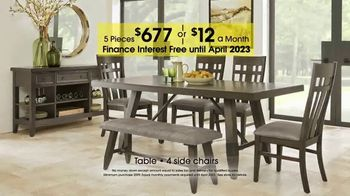 Rooms to Go 27th Anniversary Sale TV Spot, 'Five-Piece Dining Sets' - Thumbnail 3