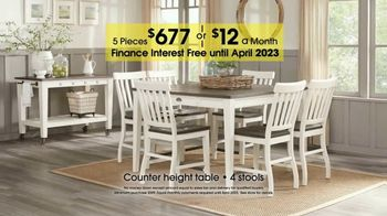 Rooms to Go 27th Anniversary Sale TV Spot, 'Five-Piece Dining Sets' - Thumbnail 4