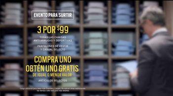 Men's Wearhouse Evento para Surtir TV Spot, 'Uno gratis' [Spanish] - Thumbnail 6