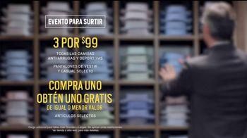 Men's Wearhouse Evento para Surtir TV Spot, 'Uno gratis' [Spanish] - Thumbnail 8