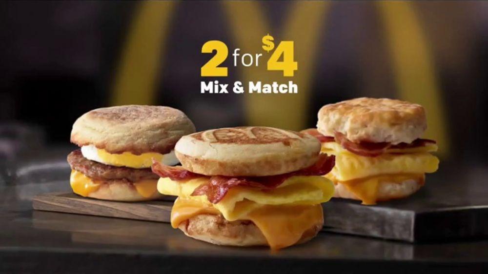 Mcdonalds  Breakfast Sandwiches Tv Commercial Mix Match Ispot Tv