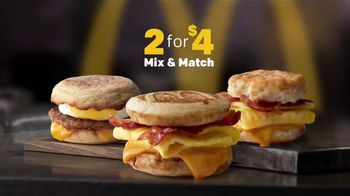 McDonald's 2 for $4 Breakfast Sandwiches TV Spot, 'Mix & Match'