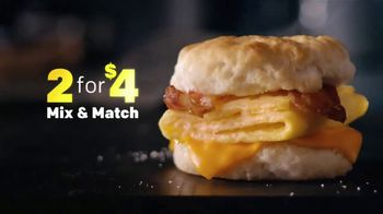 McDonald's 2 for $4 Breakfast Sandwiches TV Spot, 'Mix & Match' - Thumbnail 4