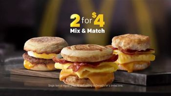 McDonald's 2 for $4 Breakfast Sandwiches TV Spot, 'Mix & Match' - Thumbnail 5