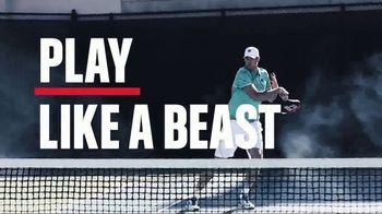 Tennis Warehouse TV Spot, 'Play Like a Beast' Featuring John Isner - 108 commercial airings