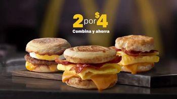 McDonald's 2 for $4 Breakfast Sandwiches TV Spot, 'Combínalo' [Spanish] - Thumbnail 1