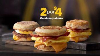 McDonald's 2 for $4 Breakfast Sandwiches TV Spot, 'Combínalo' [Spanish] - Thumbnail 3