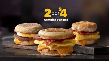 McDonald's 2 for $4 Breakfast Sandwiches TV Spot, 'Combínalo' [Spanish] - Thumbnail 9