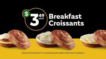 Subway Breakfast Croissants TV Spot, 'Morning Commute' - Thumbnail 7
