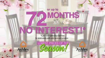 Ashley HomeStore Lowest Prices of the Season! TV Spot, 'Cherry Blossoms' - Thumbnail 3