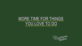 Cyclone Rake TV Spot, 'More Time for the Things You Love to Do' - Thumbnail 3