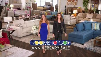 Rooms to Go Anniversary Sale TV Spot, 'Two Great Collections' Feat. Cindy Crawford, Sofia Vergara - 10 commercial airings