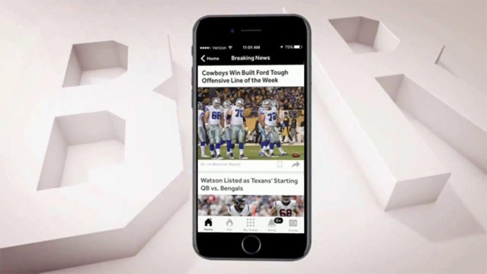 Bleacher Report Team Stream App TV Commercial, 'Offensive Line of the Week'
