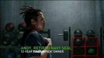 Tempur-Pedic Veterans Day Event TV Spot, 'Sleep Hard' Featuring Andy Stumpf - Thumbnail 1