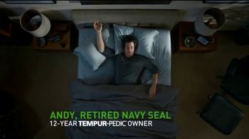 Tempur-Pedic Veterans Day Event TV Spot, 'Sleep Hard' Featuring Andy Stumpf