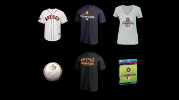 MLB Shop TV Spot, 'Houston Astros: World Series Champions' - 82 commercial airings