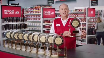 ACE Hardware Thank You Sale TV Spot, 'J.D. Power: Customer Satisfaction' - 1021 commercial airings