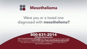 Sokolove Law TV Spot, 'Mesothelioma: Asbestos Exposure'
