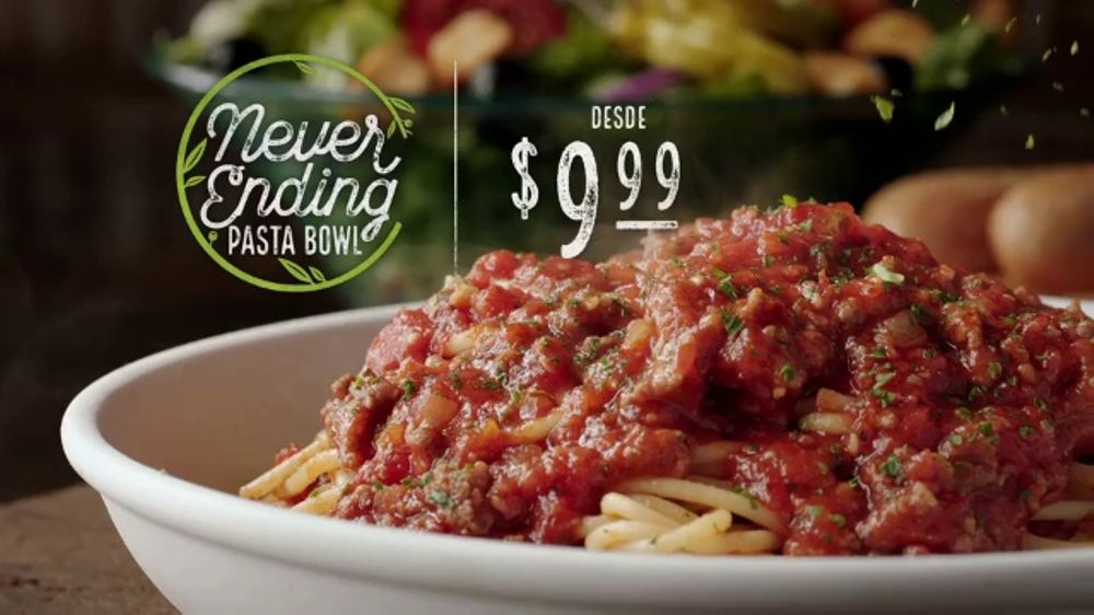 Olive garden never ending pasta bowl tv commercial 39 ya casi termina 39 for Olive garden endless pasta bowl