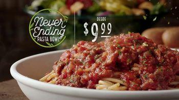 Olive Garden Never Ending Pasta Bowl TV Spot, 'Ya casi termina' [Spanish]