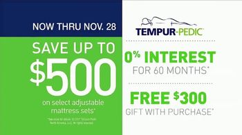 Relax the Back Tempur-Pedic Savings Event TV Spot, 'Perfect Fit'