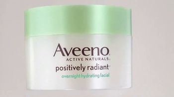 Aveeno Positively Radiant Overnight Facial TV Spot, 'While You Sleep' - Thumbnail 5
