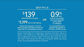 2017 Honda Fit LX TV Spot, 'Adaptable' [T2] - Thumbnail 9