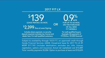 2017 Honda Fit LX TV Spot, 'Adaptable' [T2] - Thumbnail 8