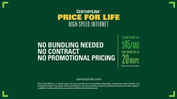 CenturyLink Price for Life High-Speed Internet TV Spot, 'Park Bench' - Thumbnail 8