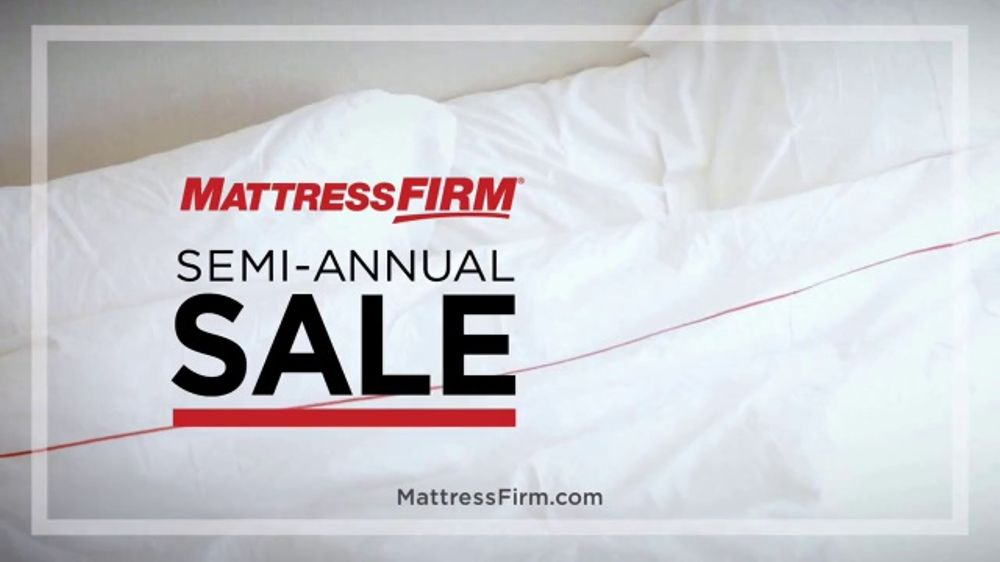 Mattress Firm Semi Annual Sale Tv Commercial Favorites On Sale Free Delivery Ispot Tv