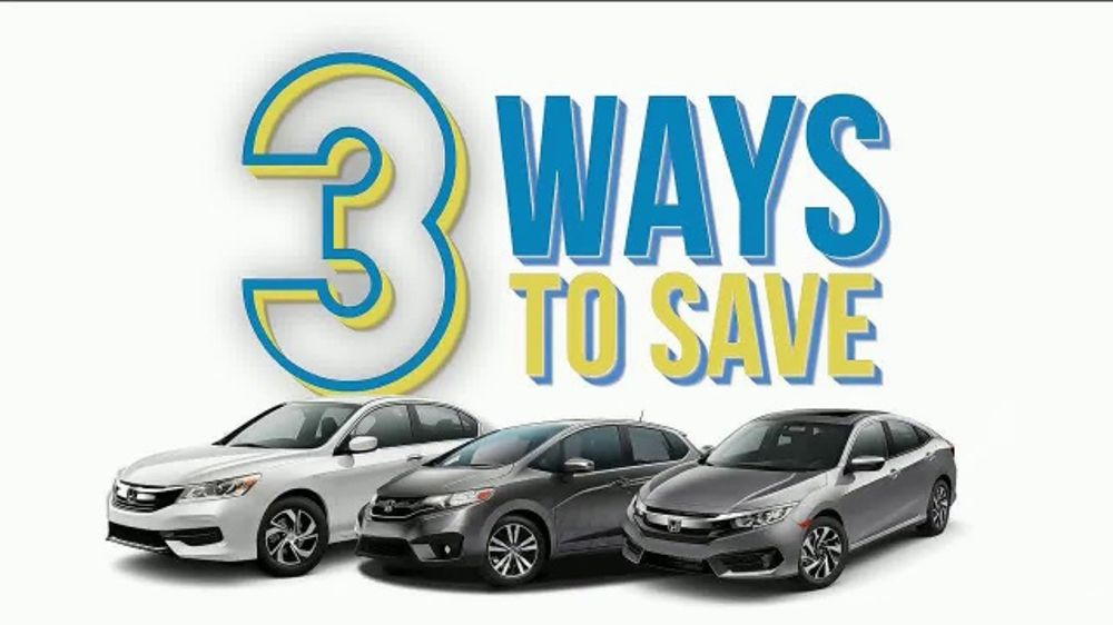 Honda Model Year End Clearance Event TV Commercial, U0027Three Ways To Saveu0027  [T2]   ISpot.tv