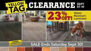Lumber Liquidators Yellow Tag Clearance TV Spot, 'Water Resistant Laminate' - Thumbnail 4