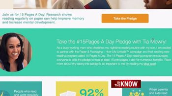 Paper and Packaging Board TV Spot, 'In the Know: 15 Pages' Feat. Tia Mowry - Thumbnail 6