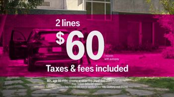 T-Mobile Unlimited 55+ TV Spot, 'Out of Touch' Song by Sammy Hagar - Thumbnail 8