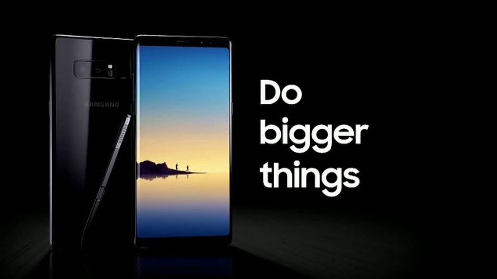samsung galaxy note8 tv commercial 39 bigger things more. Black Bedroom Furniture Sets. Home Design Ideas