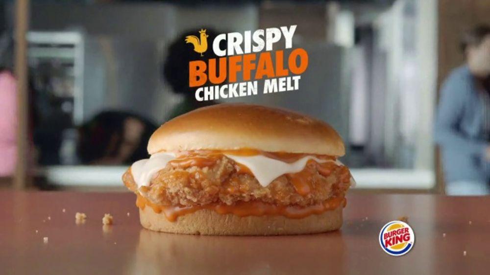 Burger King Crispy Buffalo Chicken Melt TV Commercial, 'Juicy on the Inside'