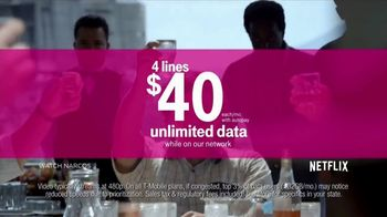 T-Mobile Unlimited TV Spot, 'Netflix on Us' - Thumbnail 5