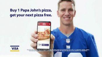 VISA Checkout TV Spot, 'Papa John's Pizza' - 34 commercial airings