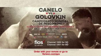 Fios by Verizon Pay-Per-View TV Spot, 'Canelo vs. Golovkin' [Spanish] - 11 commercial airings