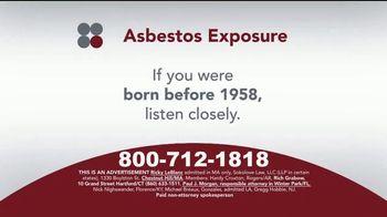 Sokolove Law TV Spot, 'Asbestos Exposure' - Thumbnail 1